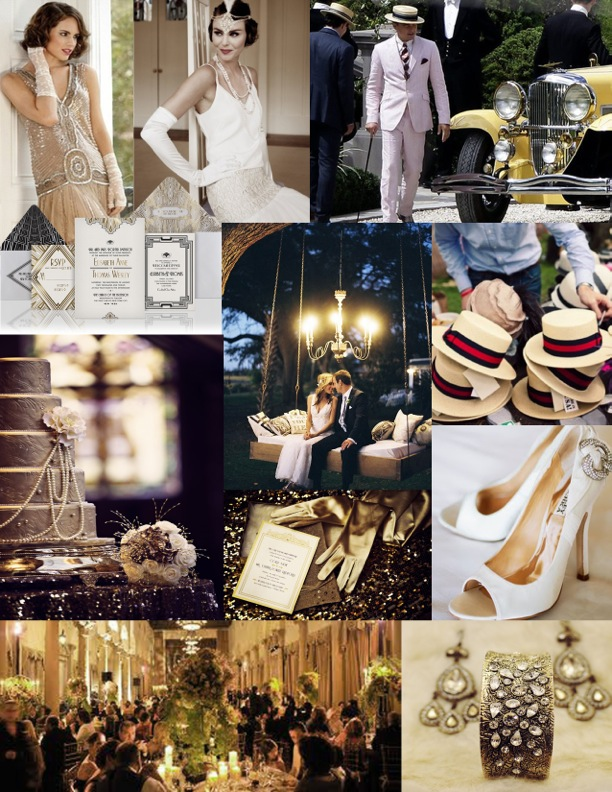 1920's Wedding Theme Inspiration Board