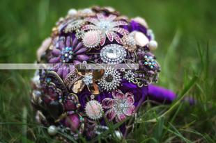 Purple blingy bouquet