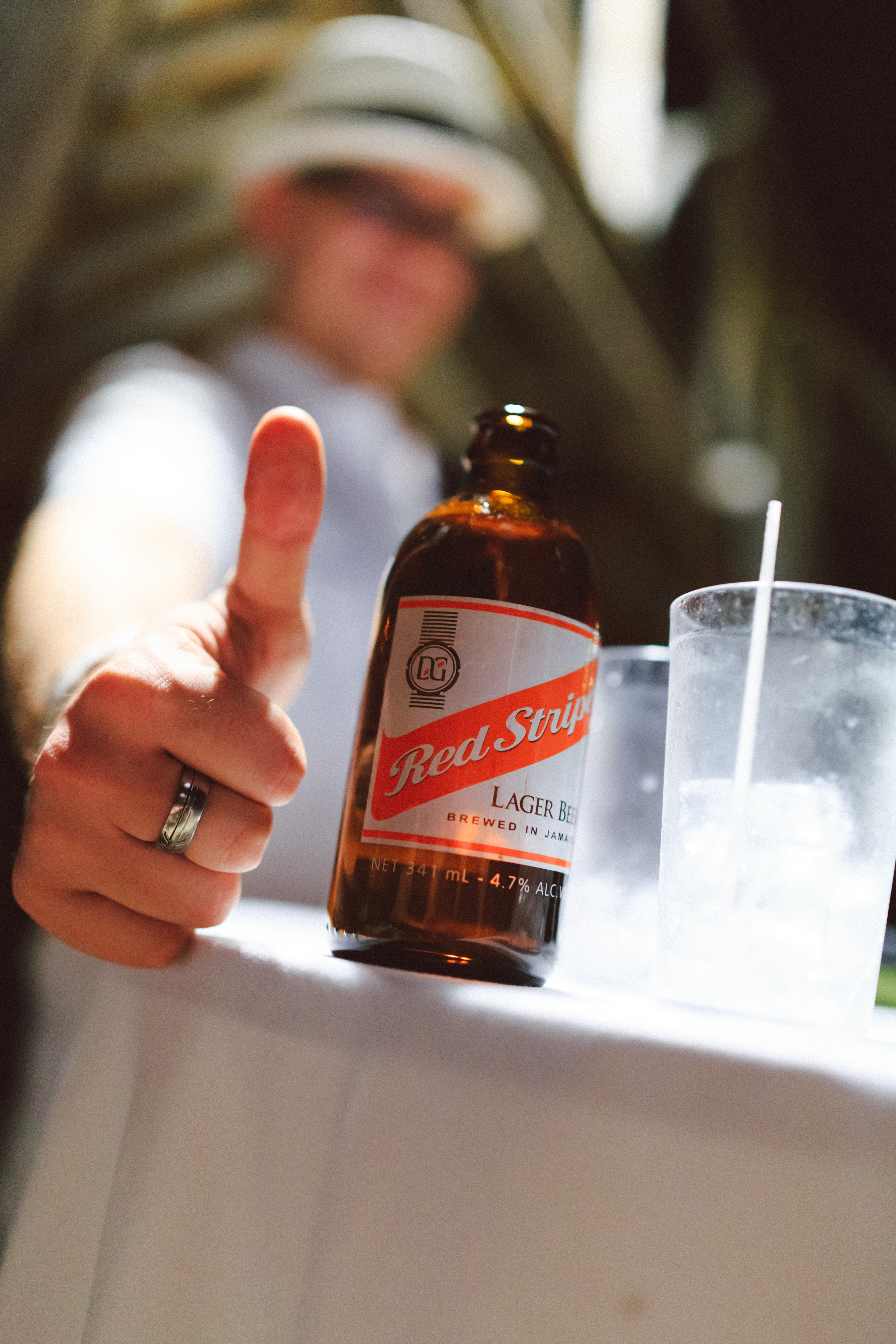 Red Stripe at jamaican destination wedding - Grand Palladium