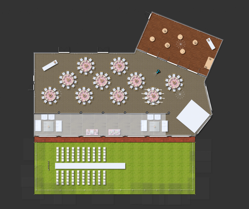Reception Layout 2D