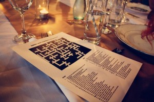 Wedding crossword for every guest