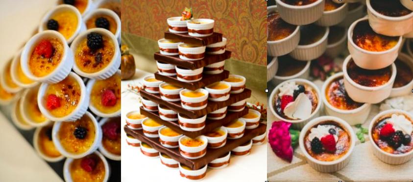 Creme Brûlée Wedding Cake Alternative