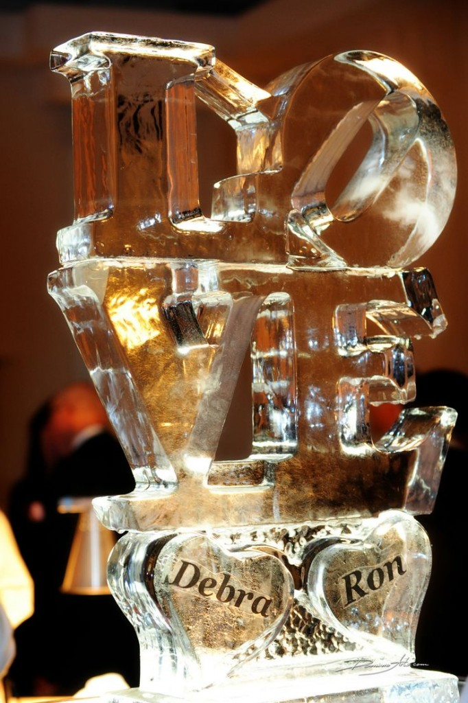 ice luge at wedding
