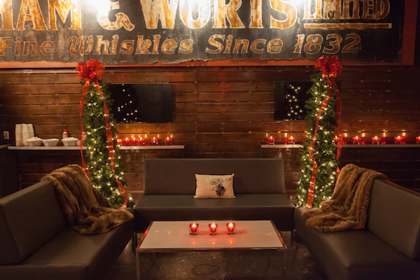 Rustic Christmas Lounge