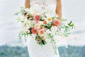 Wild Cascading bouquet for the bride