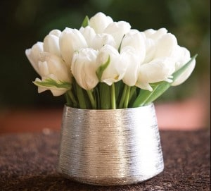 Cluster of White Tulips for wedding floral decor