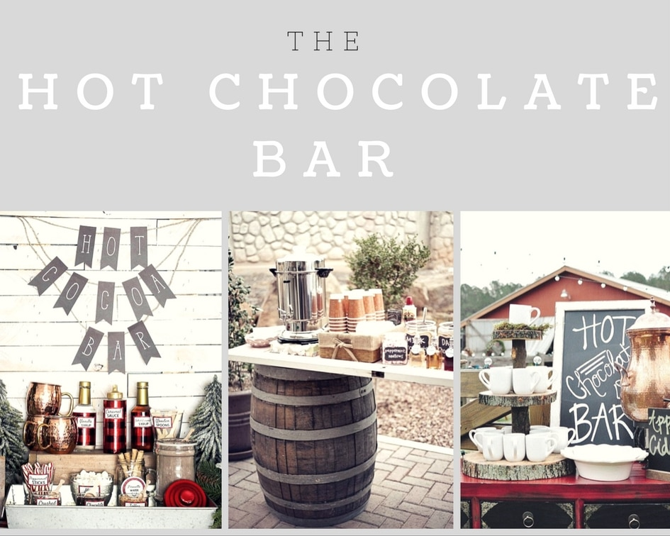 collage of hot chocolate bars