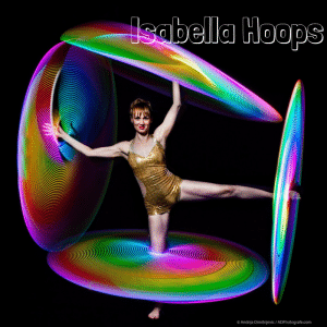 Spinning LED Hula Hoops